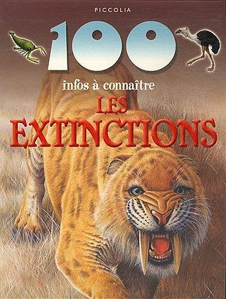 100 infos à connaître - Les Extinctions -  Steve Parker - Piccolia  Livre enfant