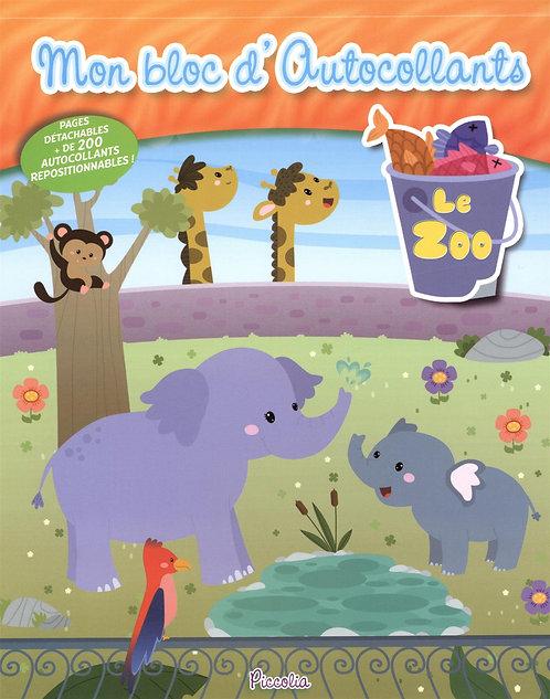 Mon bloc d'autocollants repositionnables - Le Zoo - Piccolia