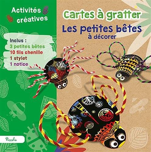 Cartes à gratter Les petites bêtes à décorer- Piccolia - Activités créatives