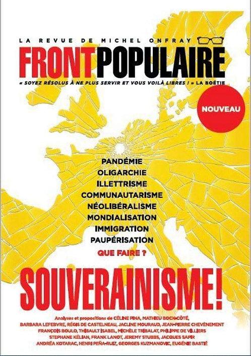 Front populaire - numéro 1 Souverainisme ! - Michel Onfray- Editions Du Plenitre