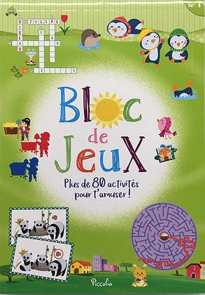 Bloc De Jeux N° 1 - Plus De 80 Activités Pour S'amuser !