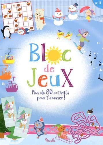 Bloc de jeux n°11 :Plus de 80 activités pour s'amuser ! Piccolia
