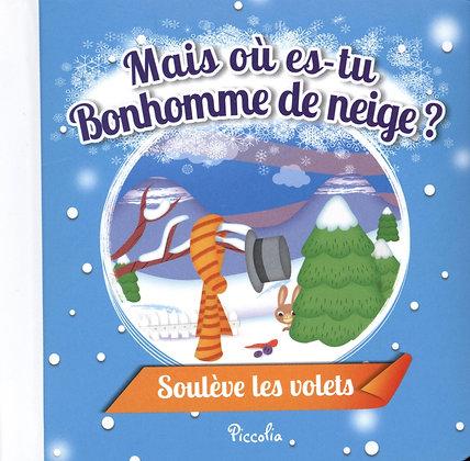 Mais où es-tu Bonhomme de neige ? Soulève les volets - Livre enfant Piccolia