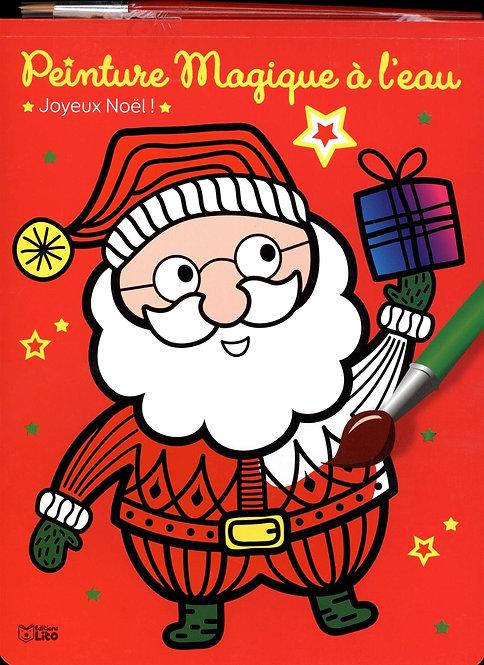 Livre - Peinture Magique À L'eau Joyeux Noël - Avec Un Pinceau -  Bloc magique