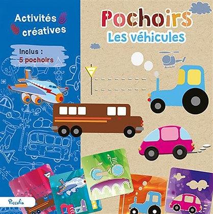 Pochoirs Les Véhicules - Avec 5 Pochoirs - Activités créatives - Piccolia
