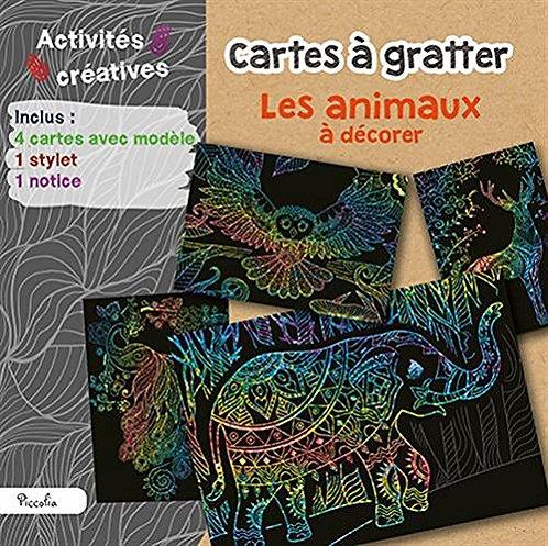 Cartes À Gratter Les animaux  à Décorer - Loisirs créatifs - Piccolia