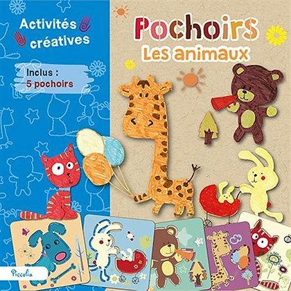 Pochoirs : Les animaux - Avec 5 pochoirs - Activités créatives Piccolia