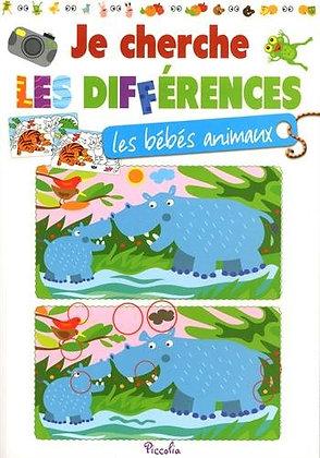 Je cherche les différences : Les bébés animaux  - Piccolia Livres enfants