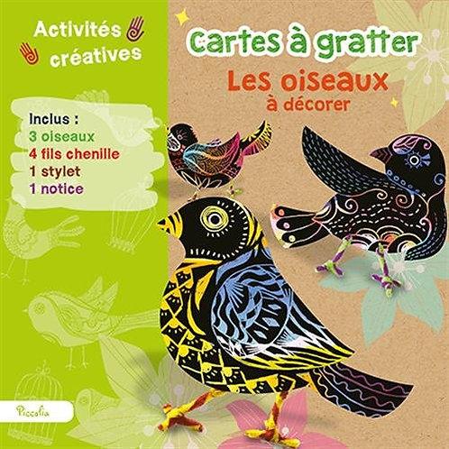 Cartes À Gratter Les Oiseaux À Décorer - Loisirs créatifs - Piccolia