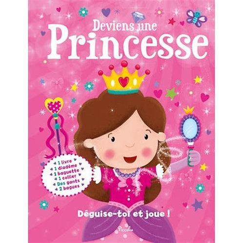 Deviens Une Princesse -Déguise-toi et joue Coffret Piccolia - Livre+ accessoires