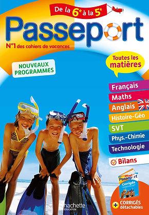 Passeport - Toutes les matières de la 6e à la 5e - Cahier de vacances 2021 -