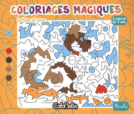 Lettres Et Sons - Coloriages Magiques - Piccolia