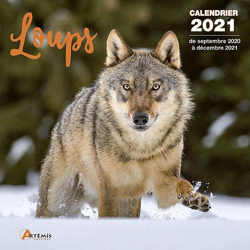 Loups - Calendrier 2021 - Éditeur : Artémis