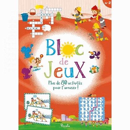 Livre enfant - Bloc de jeux N° 2 : Plus de 80 activités pour t'amuser ! Piccolia