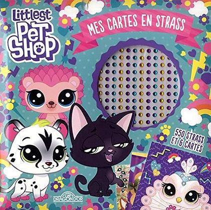 Mes Cartes En Strass Littlest Pet Shop - 550 Strass Et 6 Cartes - Hasbro