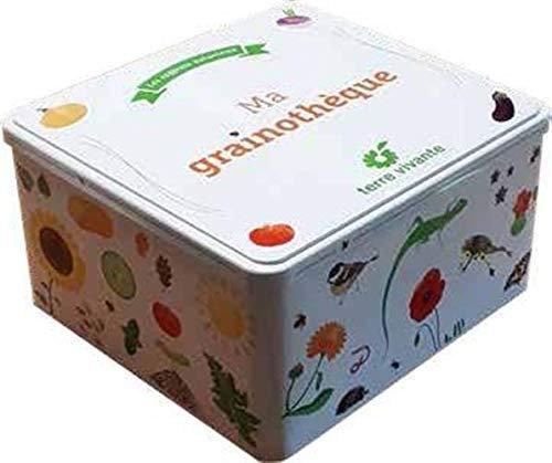 Ma Grainothèque - Coffret Avec 6 Sachets De Graines, Un Filet Anti-Insectes....