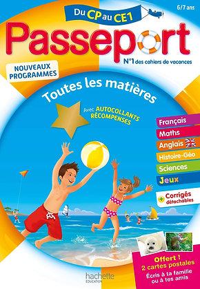 Passeport - Du CP au CE1 (6-7 ans) - Cahier de vacances 2021 - Hachette