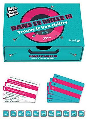 Dans Le Mille !!!! - Avec 40 Jetons Et 55 Cartex - Editions Solar - Jeu Apéro