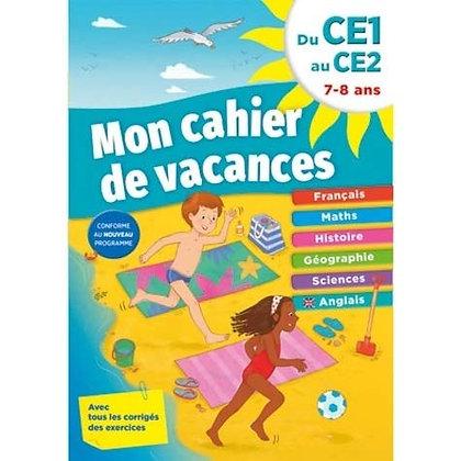 Mon cahier de vacances du CE1 au CE2 - 7-8 ans - Piccolia