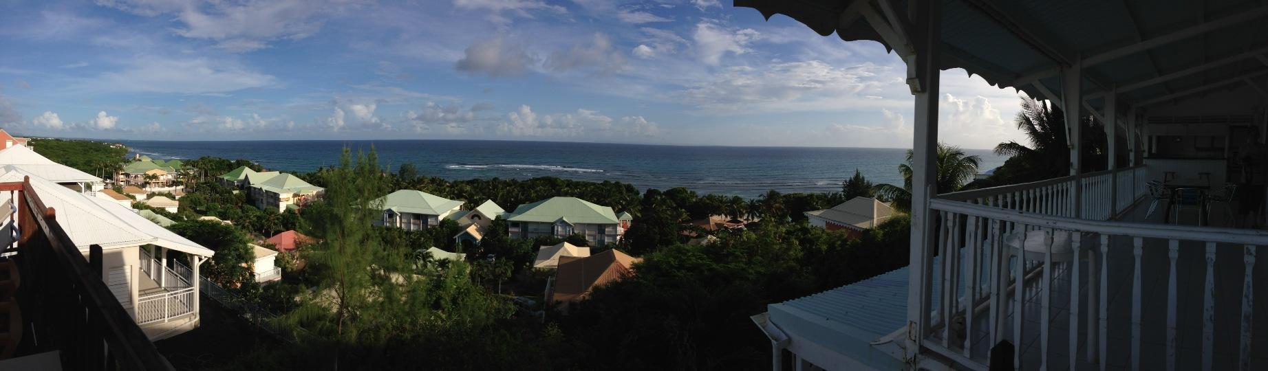 vue villa de la residence du lagon