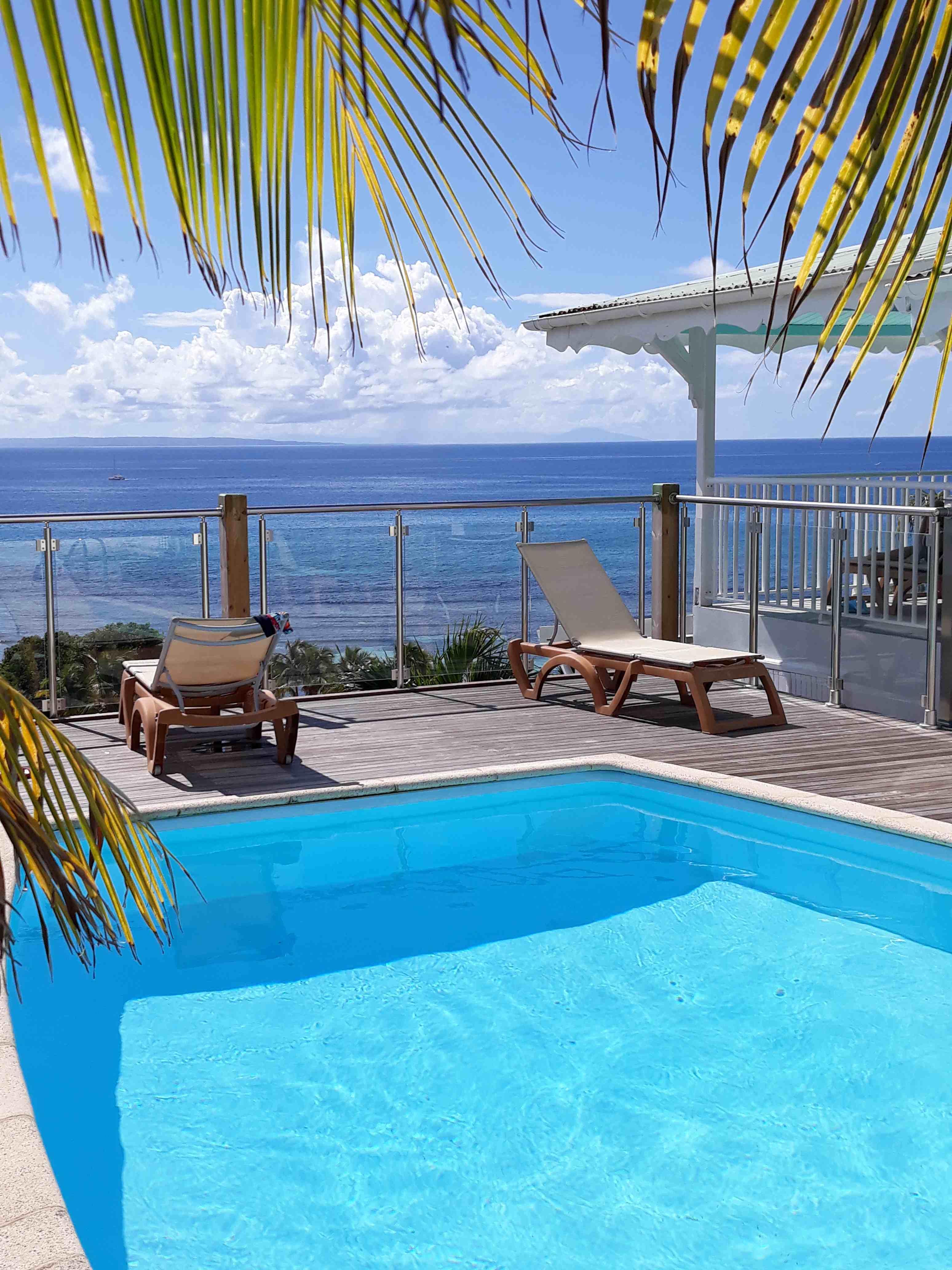 piscine villa  vue mer panoramique