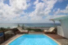 piscine de la villa de la residence du lagon a l'anse des rochers