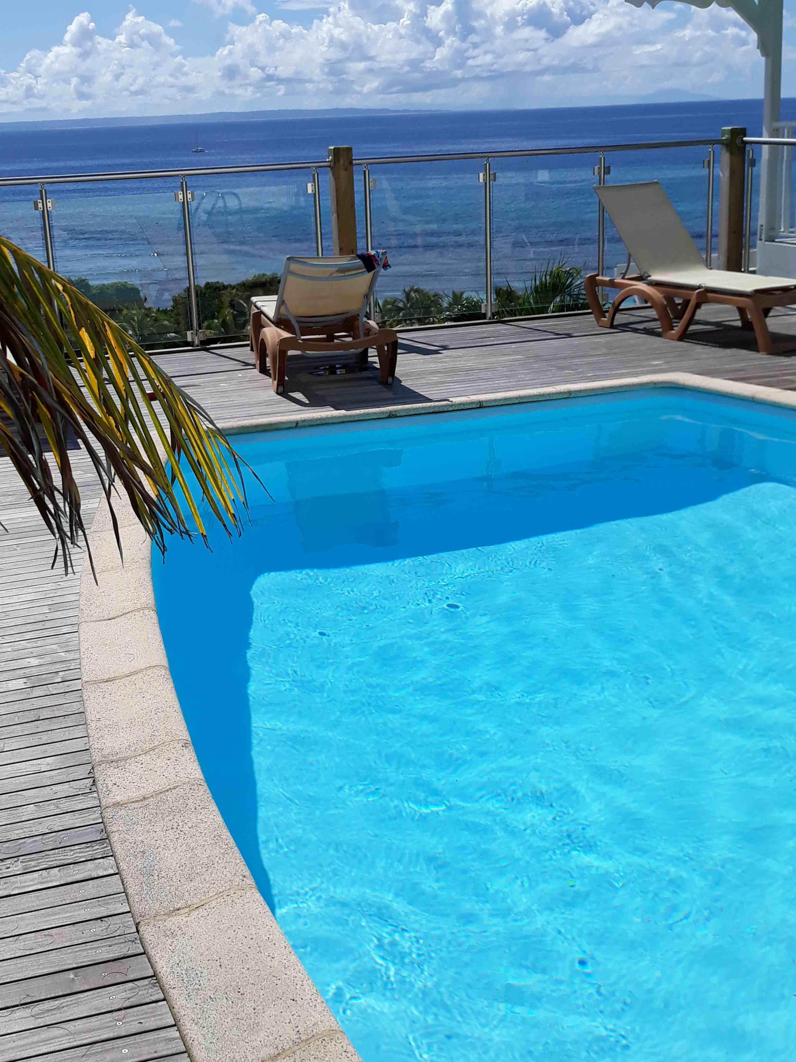 piscine  vue mer panoramique