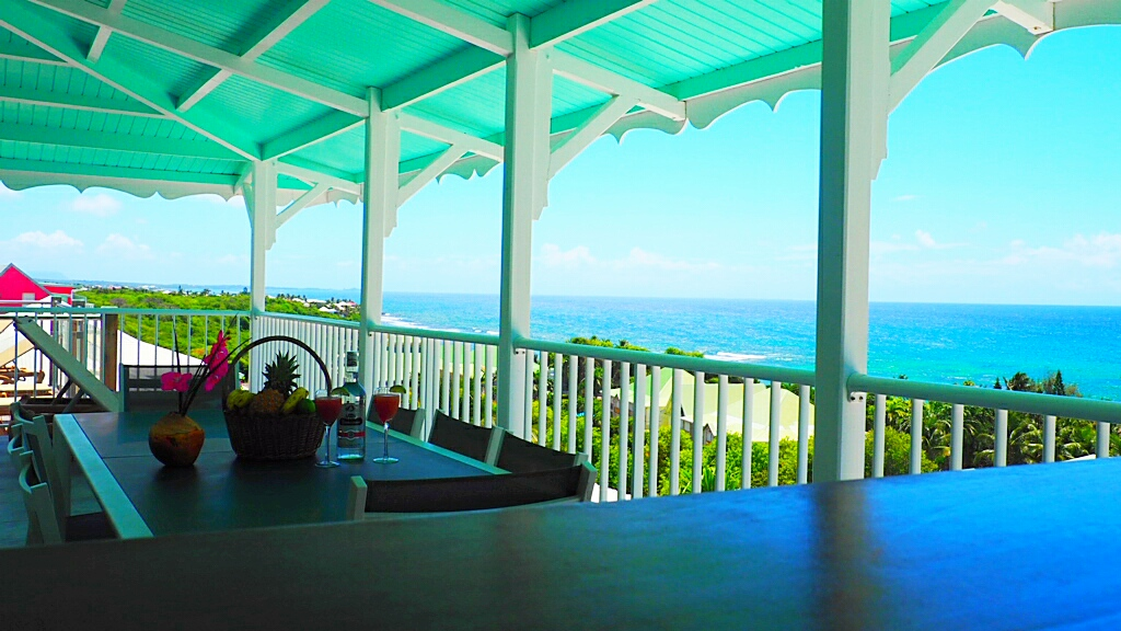 vue terrasse depuis cuisine