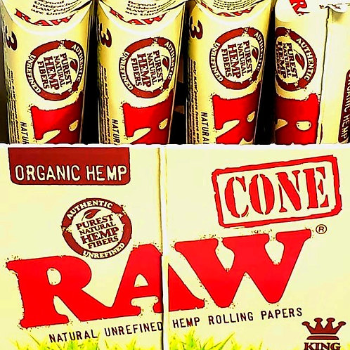 RAW CONE ORANGIC HEMP KING SIZE 3 PACK