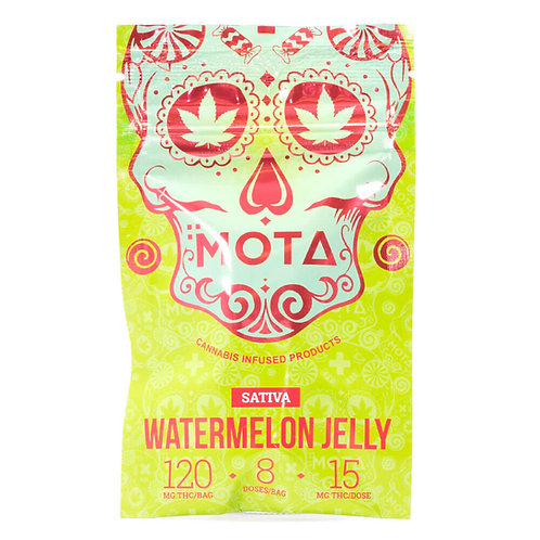 MOTA 120MG THC SATIVA JELLY (WATERMELON)