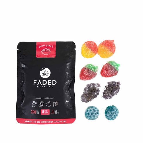 Faded Edibles 240mg THC Fruit Pack
