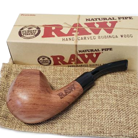 RAW Wooden Hand-Carved Pipe
