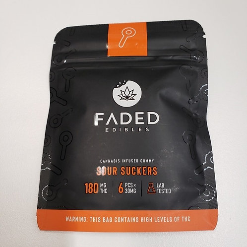 Faded Edibles 180MG THC Sour Suckers