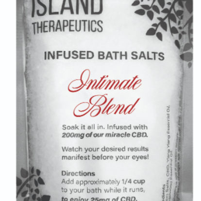 ISLAND THERAPEUTICS: 200MG CBD INTIMATE BATH SOAK