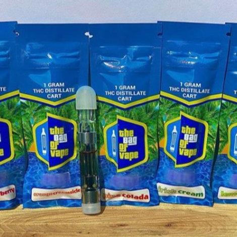 The Bag of Vape 1G Assorted Flavored THC Distillate Cart