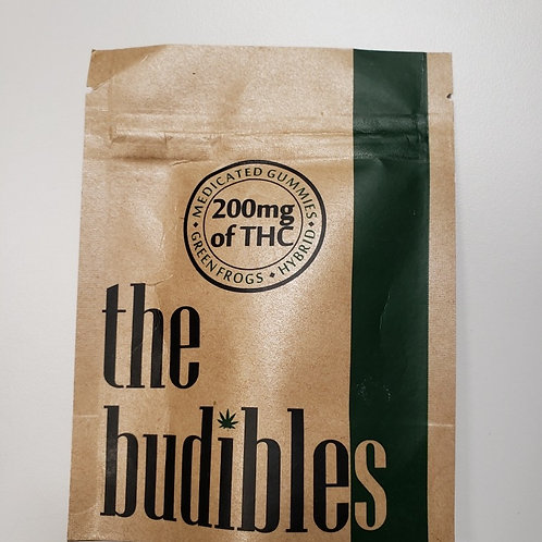 High Voltage 'Budibles' 200MG THC Greenfrogs