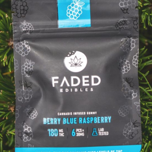 Faded Edibles 180mg Blue Raspberry