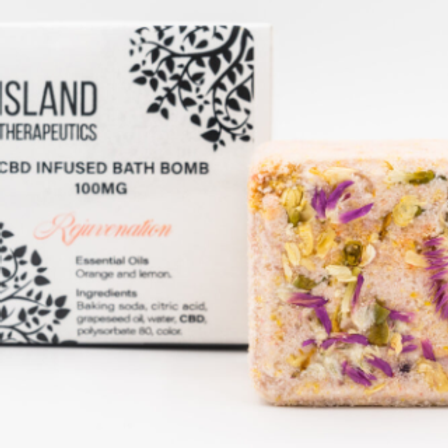 ISLAND THERAPEUTICS: 100MG CBD REJUVENATION BATH BOMB
