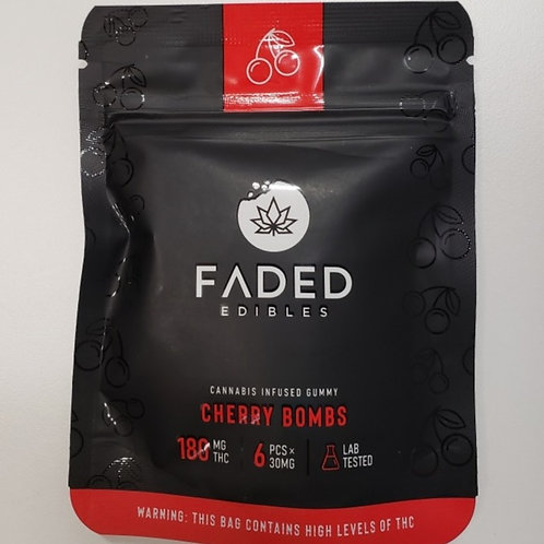 Faded Edibles 180MG THC Cherry Bombs