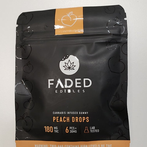 Faded Edibles 180MG THC Peach Drops