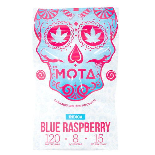 MOTA 120MG THC BLUE RASPBERRY JELLY INDICA/SATIVA