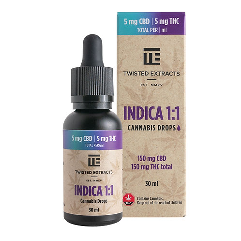 TWISTED EXTRACTS 1:1 Indica Tincture