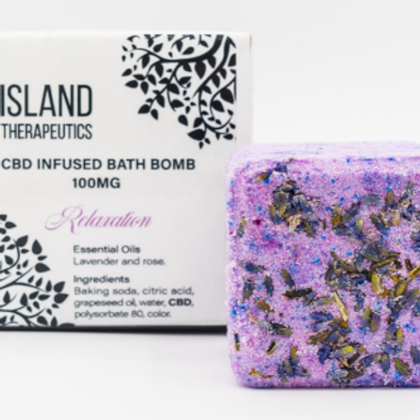 ISLAND THERAPEUTICS: 100MG CBD RELAXATION BATH BOMB