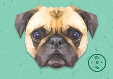 Low Poly Pug Dog