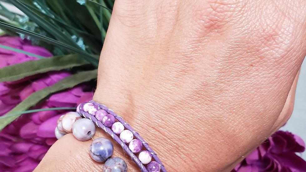 Lavender Charoite Blessing Bracelet