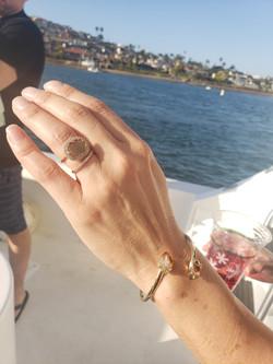 Rosegold Sliced Diamond and Pave Diamonds