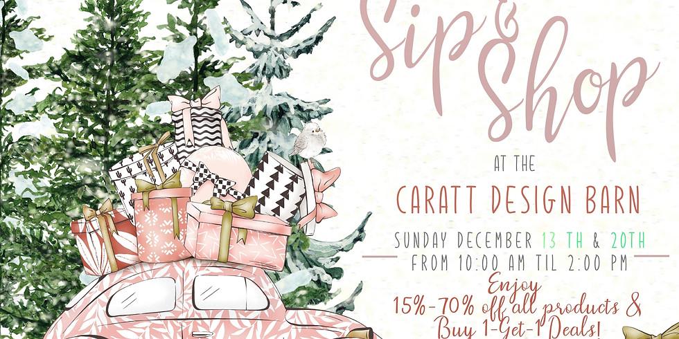 Safe Shopping Dec 13 & 20th @ The Caratt Design Barn