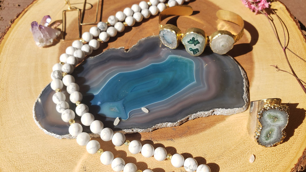Green Agate Trivet Coaster with Silver edge