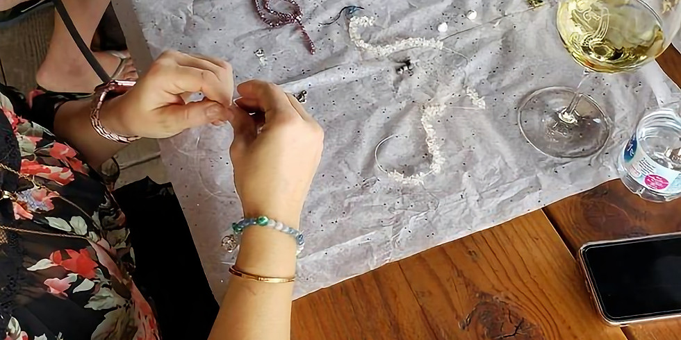 Learn Gemstone Meanings While You Sip Wine & Create a Unique Bracelet