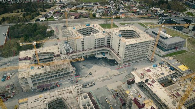 Ny teknologi: Verdens høyeste lagerroboter og sengelagerheiser til nye Stavanger universitetssykehus
